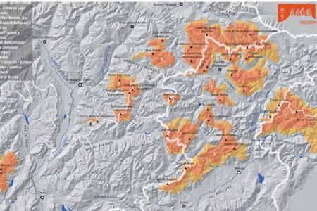 Geografia del Bene Dolomiti UNESCO