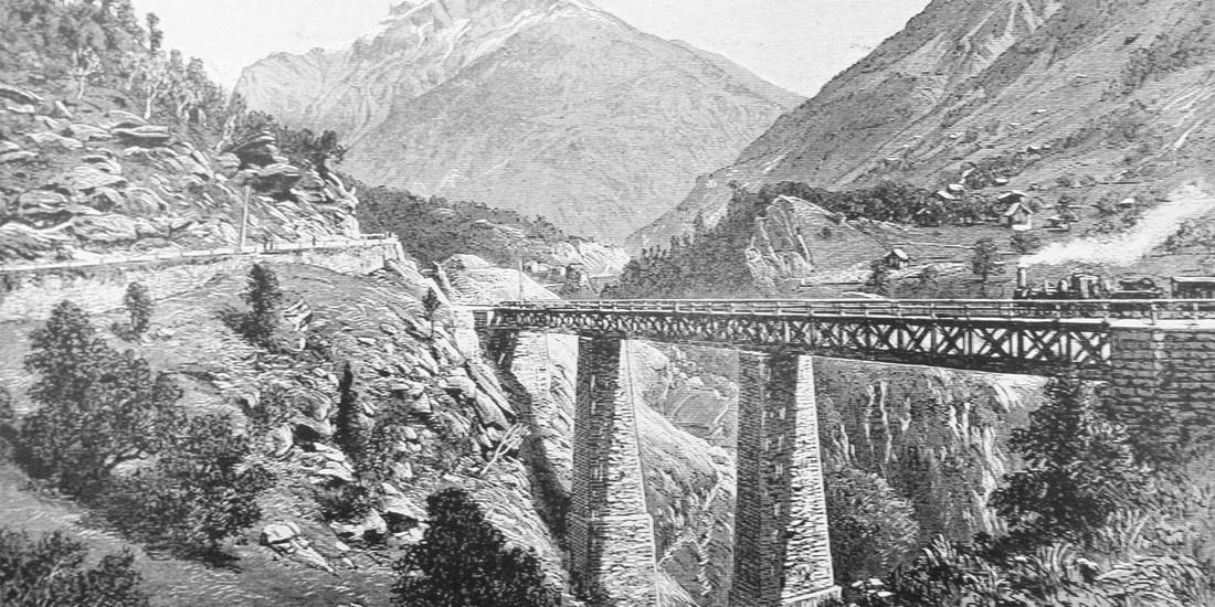 Ponte della ferrovia del gottardo, 1880 ca, ph. Archivio LabiSAlp