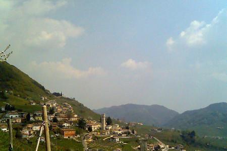 Una veduta delle colline di Valdobbiadene