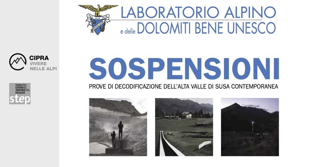 Cartolina inaugurazione mostra Sospensioni alla Casa della SAT di Trento