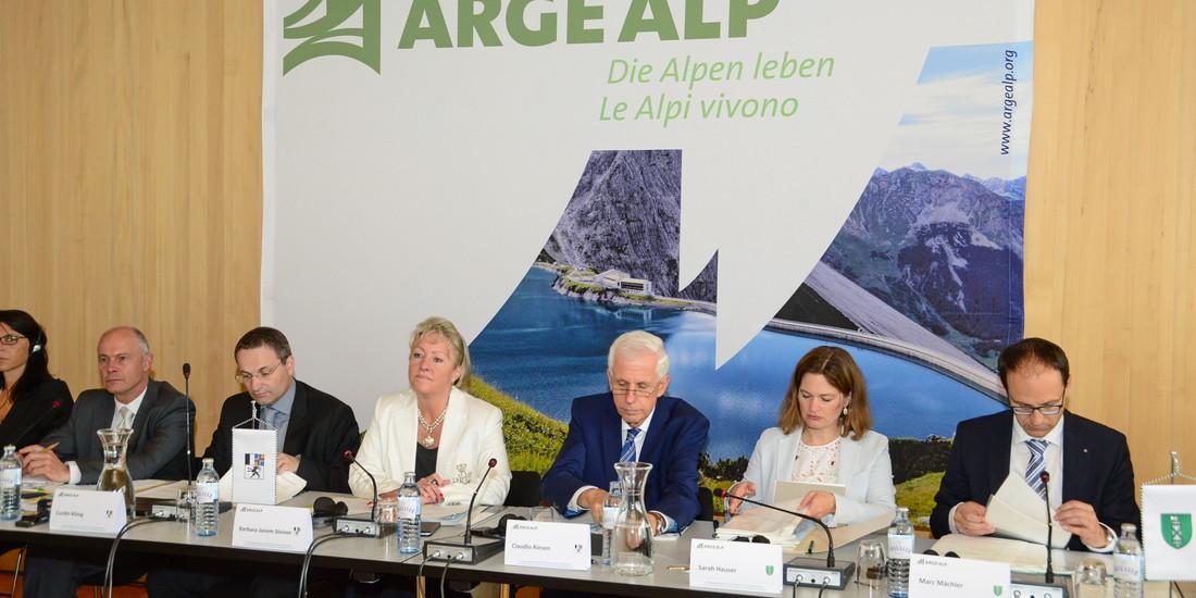 Arge Alp, un momento della Conferenza dei Capi di governo