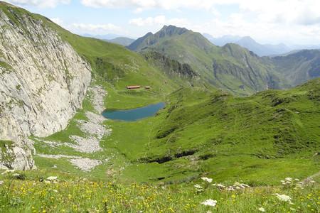 Lago Avostanis dalla Creta di TImau, Alpi Carniche, Friuli Venezia Giulia