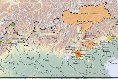 Mappa Isole linguistiche