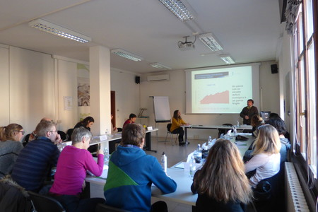 Un momento di lezione con Luca Mercalli, Master World Natural Heritage Management