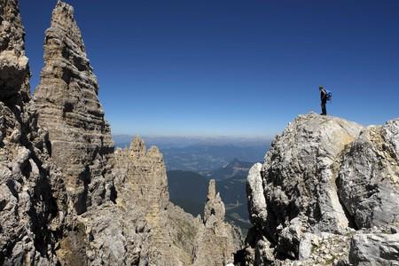 Ferrata Campanili del Latemar, Val di Fiemme, Dolomiti Trentine