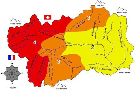 Il Bollettino Neve e Valanghe valdostano (emesso da Fondazione)