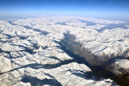 Veduta aerea delle Alpi svizzere