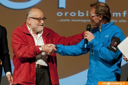 Kurt Diemberger e Simone Moro all'Orobie Film Festival