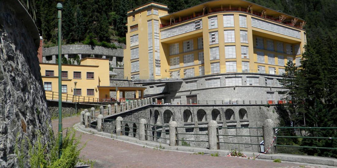 Il Padiglione servizi da sud Ovest di quello che fu il più grande sanatorio d'Europa