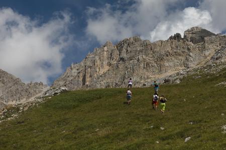 Tra Passo Pampeago e rifugio Torre di Pisa, Val di Fiemme