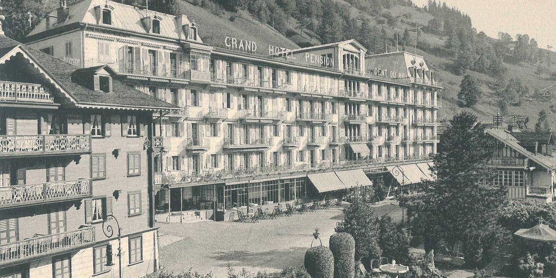 Hôtel de la Dent du Midi, ca 1910, ph. Archivio LabiSAlp