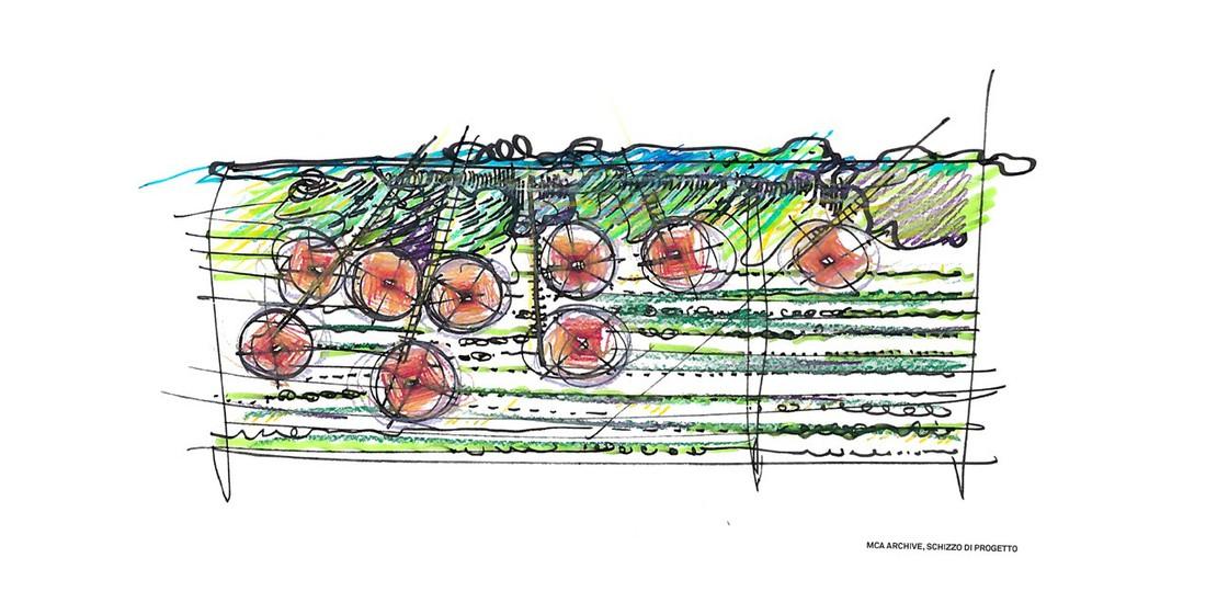 MCA Mario Cucinella Architechts, schizzo di progetto