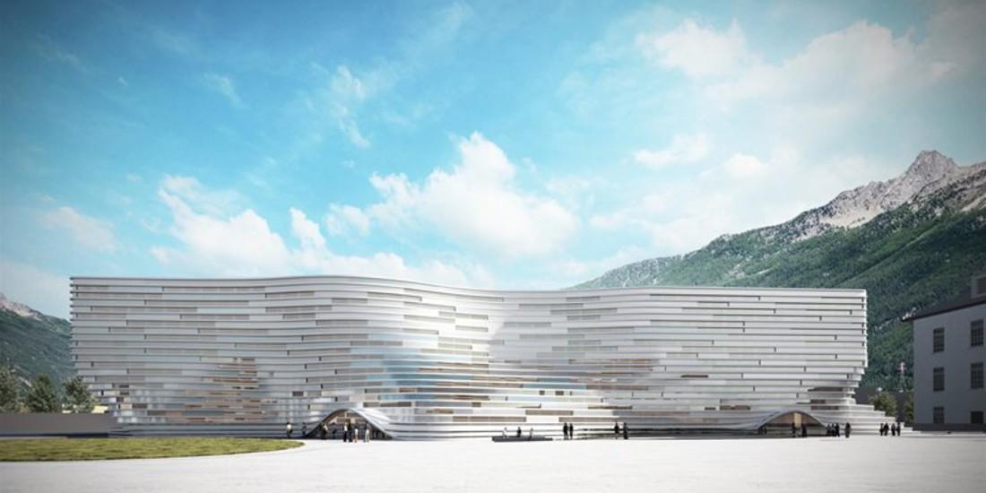 Università della Valle d'Aosta, Dipartimento di Lettere, riqualificazione dell'ex Caserma Testafuochi, uno dei pochi edifici che rispetterà la normativa 2019 quasi energia Zero