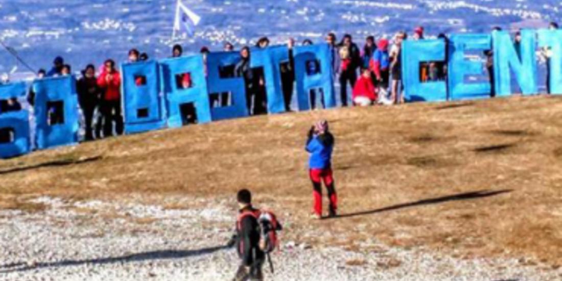 Nevegal, manifestazione contro l'ipersfruttamento idroelettrico nel territorio bellunese