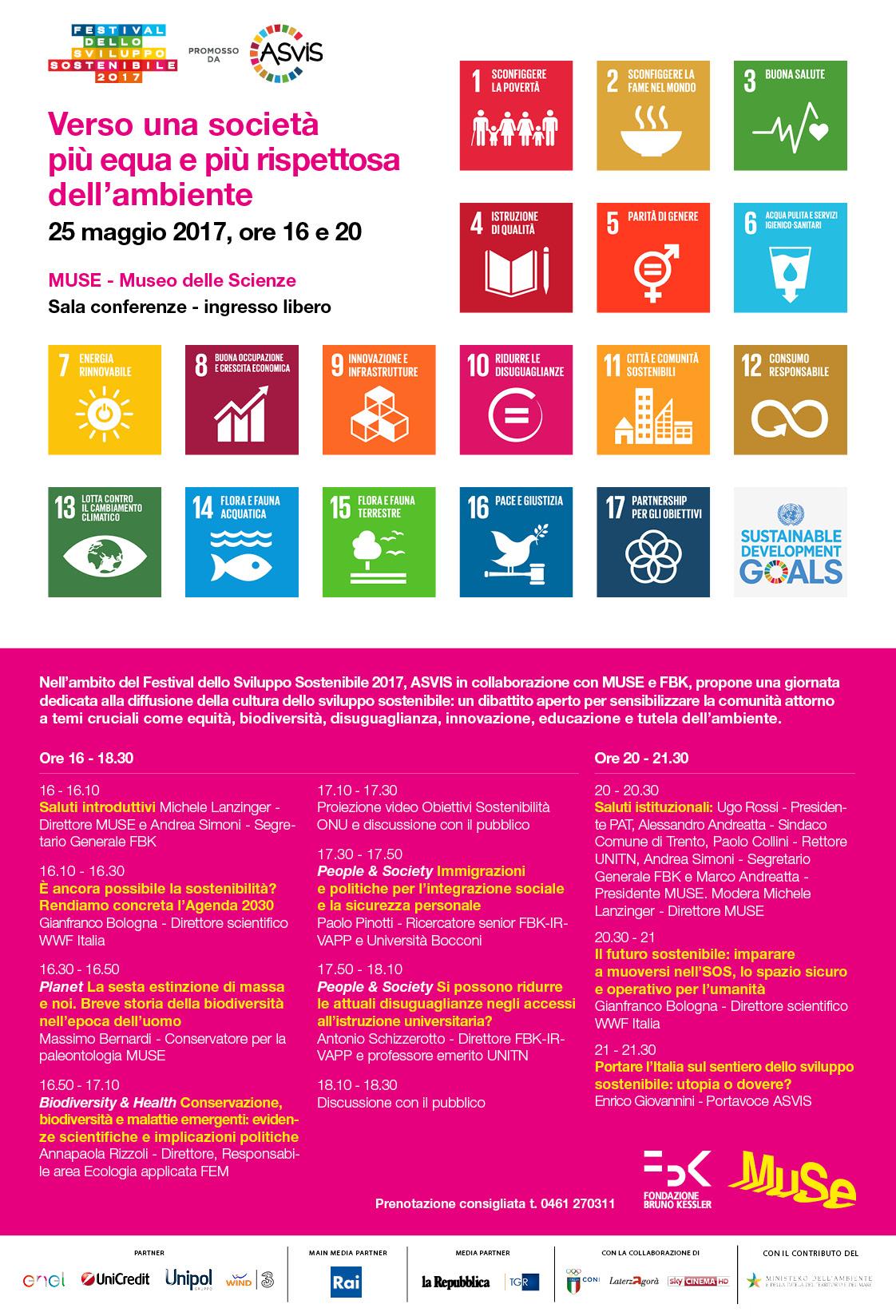 MUSE Museo delle Scienze, invito evento Festival dello Sviluppo Sostenibile